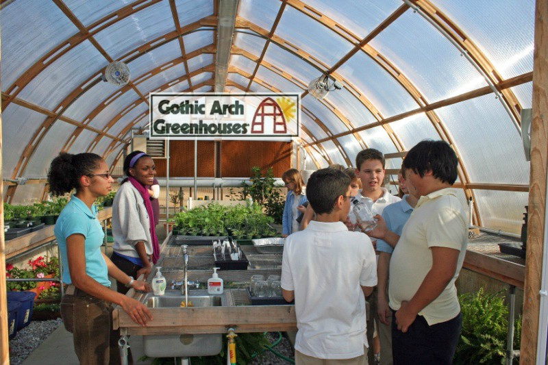 Greenhouses in Schools College Horticulture Programs Gothic Arch