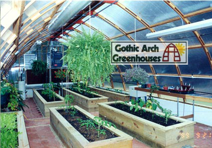 Preparing Greenhouse for Spring Gothic Arch