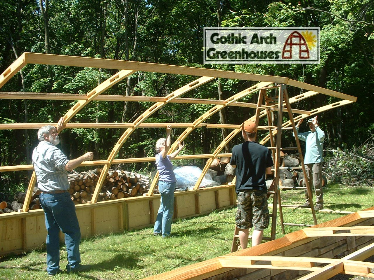 Gothic arch greenhouse easy to assemble simple design for Gothic arch greenhouse plans