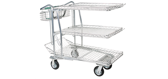 3-Shelf Shopping Carts