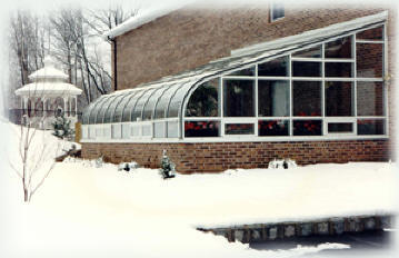 lean-to curved eva greenhouse-the best glass greenhouse for your home