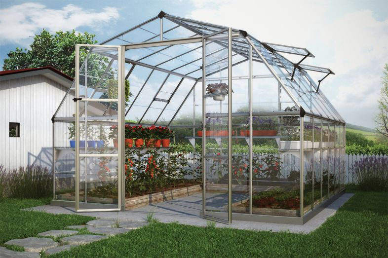 Greenhouse room gardens - Americana Hobby Greenhouse Gothic Arch Greenhouses