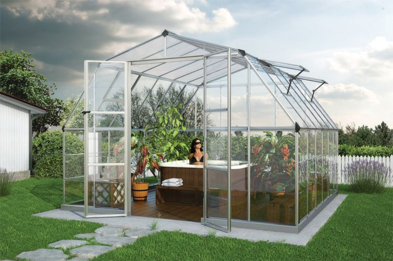 Americana Hobby Greenhouse on Gothic Arch Greenhouse Plans