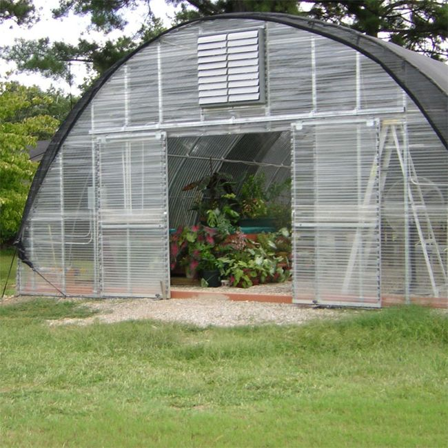 Corrugated Polycarbonate Greenhouse Gothic Arch Greenhouses