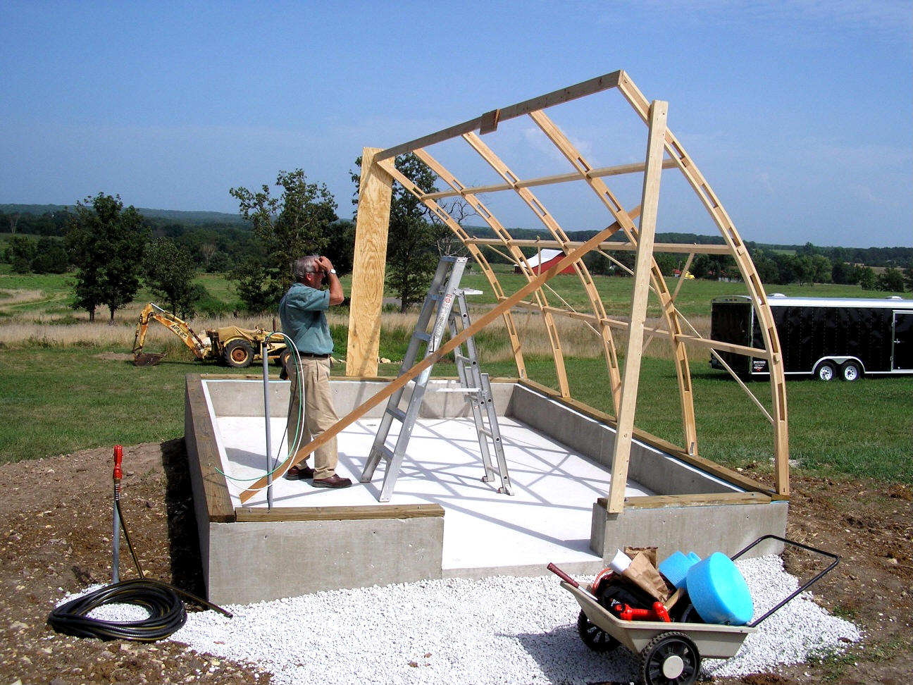 Gothic Arch Greenhouse Projects