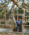 Wooden greenhouse from Gothic Arch Greenhouses Inc