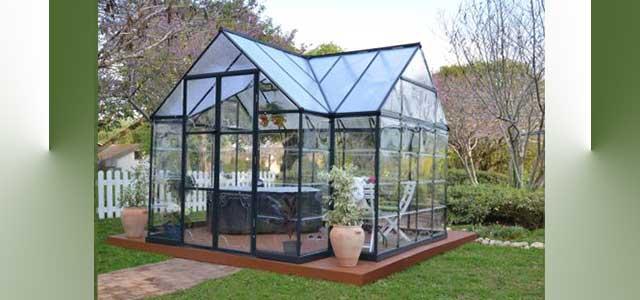 Garden orangerie greenhouse gothic arch greenhouses for Gothic arch greenhouse plans