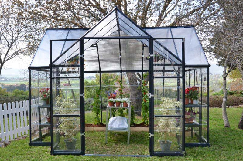 garden orangerie greenhouse gothic arch greenhouses. Black Bedroom Furniture Sets. Home Design Ideas