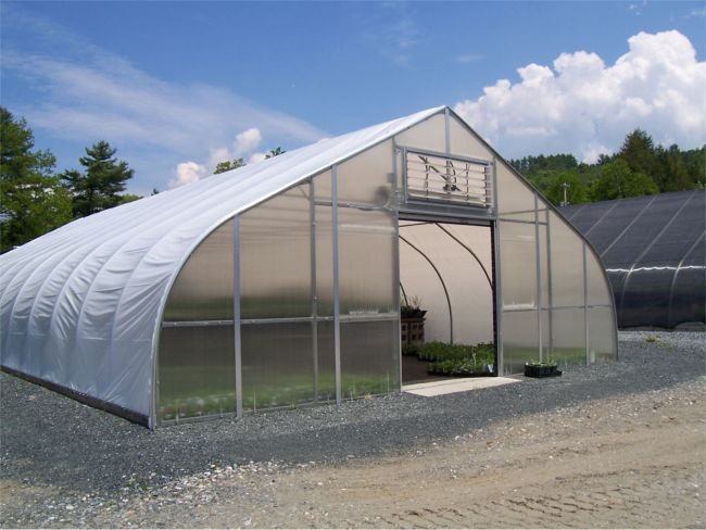 Gothic arch north greenhouse gothic arch greenhouses for Gothic arch greenhouse plans