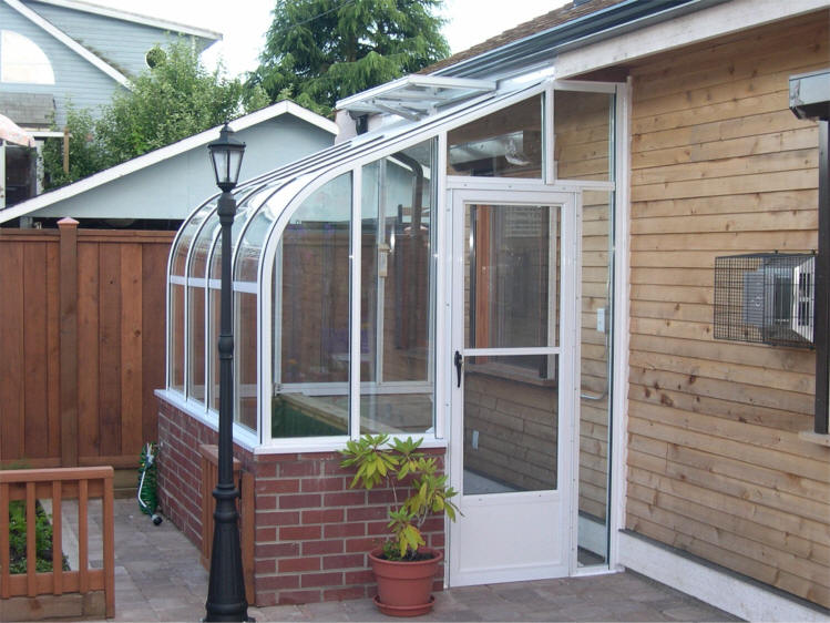 Pacific glass lean to greenhouse sale gothic arch for House plans with greenhouse attached