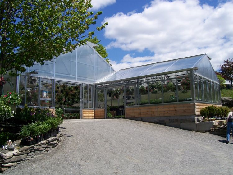 Commercial Fabric Structures - Gothic Arch Greenhouses
