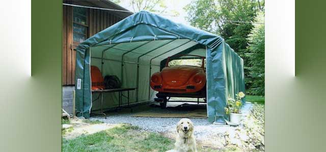 Temporary Enclosures Greenhouse : Portable instant garage gothic arch greenhouses