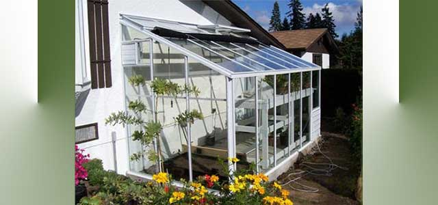 Traditional Glass Lean-to Greenhouse-6'W x 12'L Single Glass