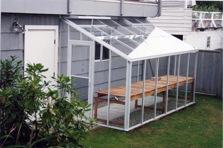 Traditional glass lean to greenhouse sale gothic arch for Sunroom attached to house