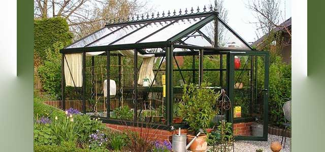 Jr Victorian Greenhouse - Black