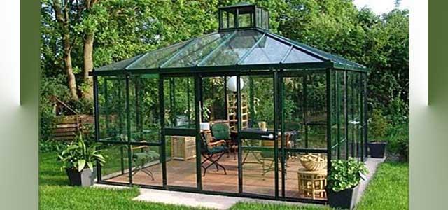 Garden Green Pavilion Greenhouse | Victorian Glass Greenhouses