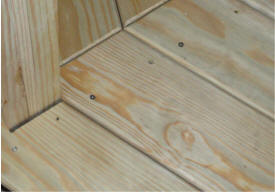 Gazebos Wood floor