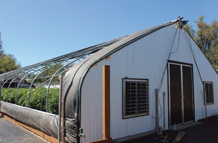 Ada Light Deprivation System Gothic Arch Greenhouses