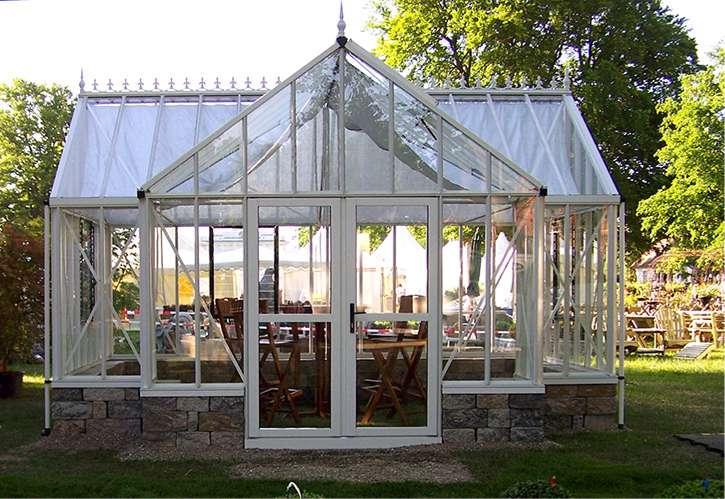 Royal victorian orangerie greenhouse gothic arch greenhouses for Gothic greenhouse plans