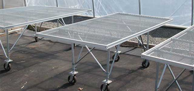 REDI-GRO Greenhouse Bench on Wheels