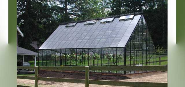 Cape Cod 16'W x 30'L Glass Greenhouse