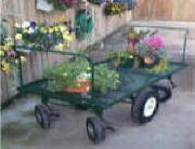 Garden center & Shopping carts are easy turning cart.Handles at both ends of cart allow for pushing.