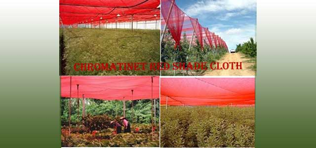 ChromatiNet Red Shade Cloth