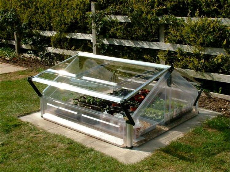 Mini Greenhouse Cold Frame Double   Gothic Arch Greenhouses