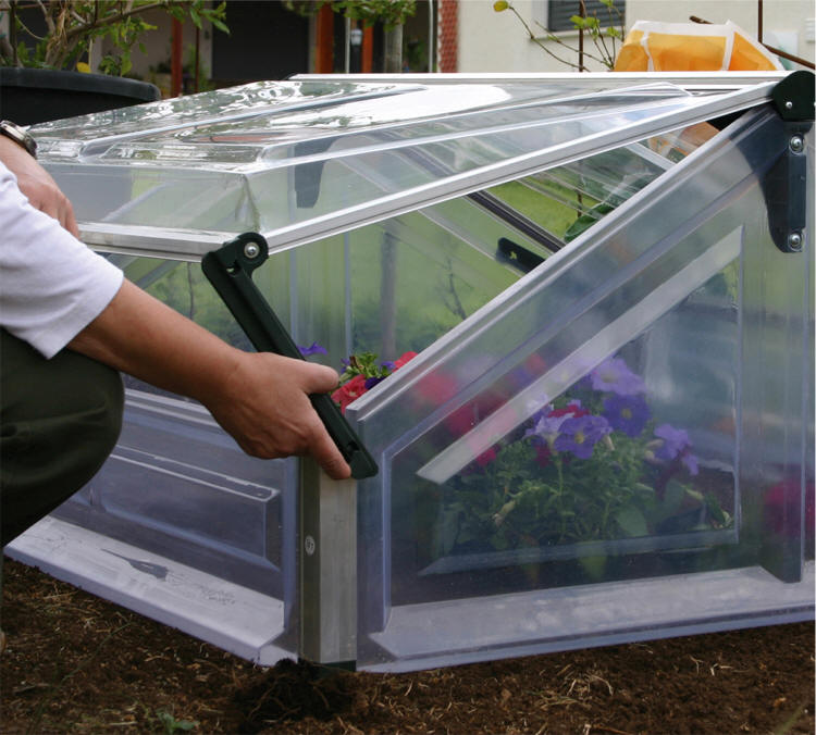 Mini Greenhouse Cold Frame Double | Gothic Arch Greenhouses