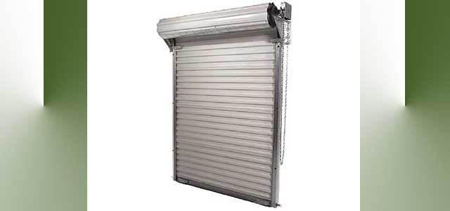 Commercial steel roll up greenhouse door