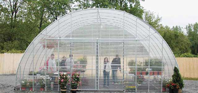 Corrugated Polycarbonate Greenhouse
