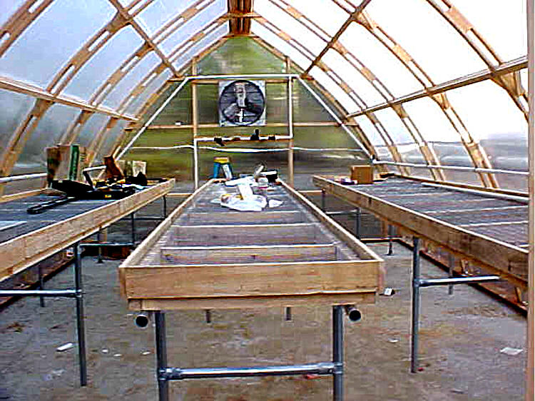 Gothic arch greenhouses review k farmer for Gothic arch greenhouse plans