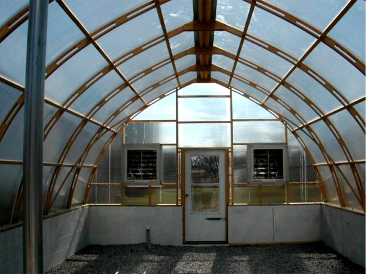 J Madonia 8mm Twinwall Polycarbonate Gothic Arch Greenhouses