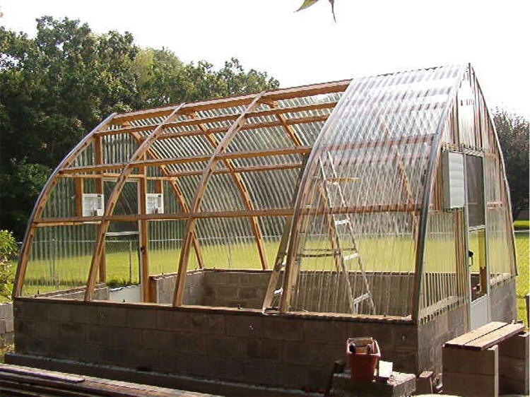 Gothic arch greenhouses review r jares for Gothic arch greenhouse plans