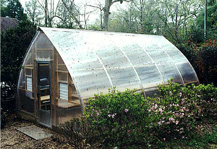Gothic arch greenhouses review w simpson for Gothic arch greenhouse plans