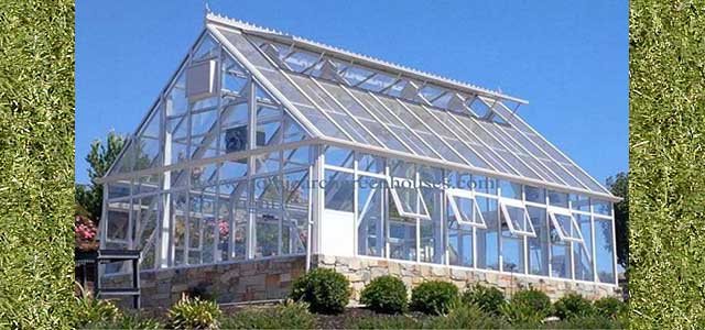 Glass Greenhouse by Gothic Arch Greenhouses