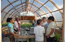 Canturbury High School - 18' x 32'Gothic Arch Greenhouse