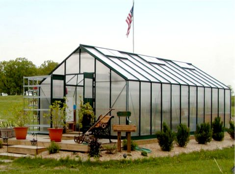 Gro pro greenhouses gothic arch greenhouses for Gothic arch greenhouse plans