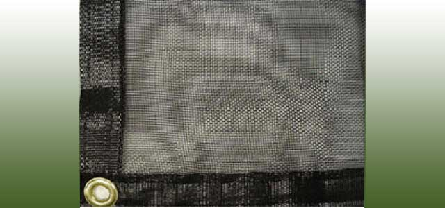 Knitted Black Shade Cloth