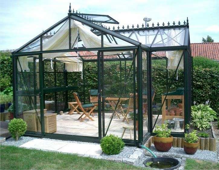 Junior Orangerie Victorian Glass Greenhouse Gothic Arch