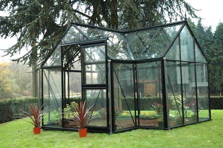 Junior Orangerie Victorian Glass Greenhouse Gothic Arch