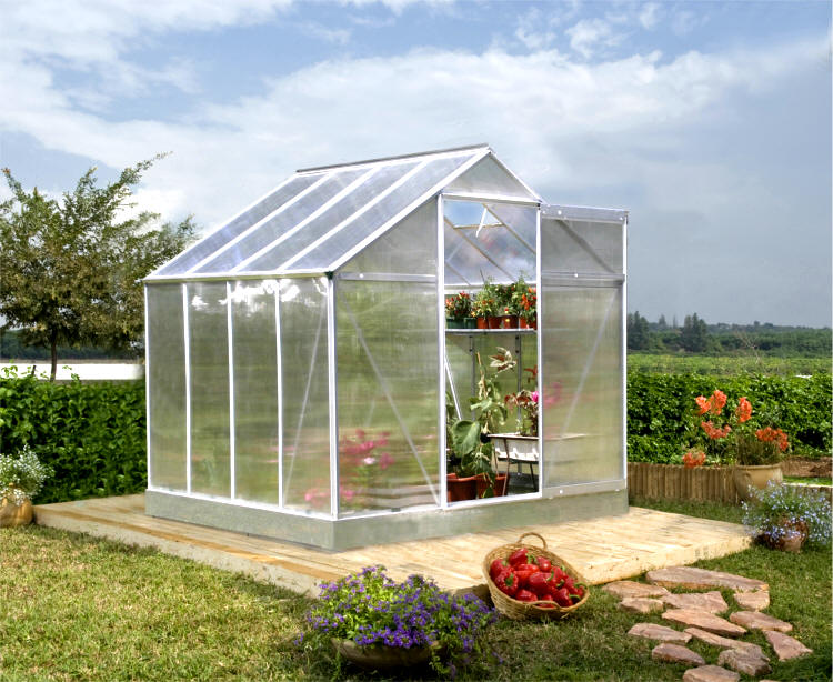 small silver greenhouses