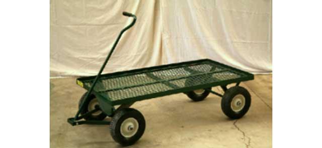 Flat Bed Greenhouse Nursery Carts