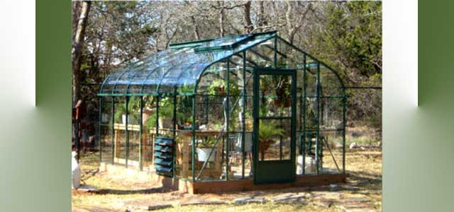 Pacific Greenhouses 10'W x 12'L Glass Greenhouse