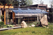 Pacific Lean-To greenhouse or solarium, home-attached