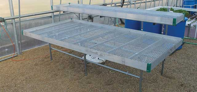 Commercial Multi-Level Greenhouse Bench Systems