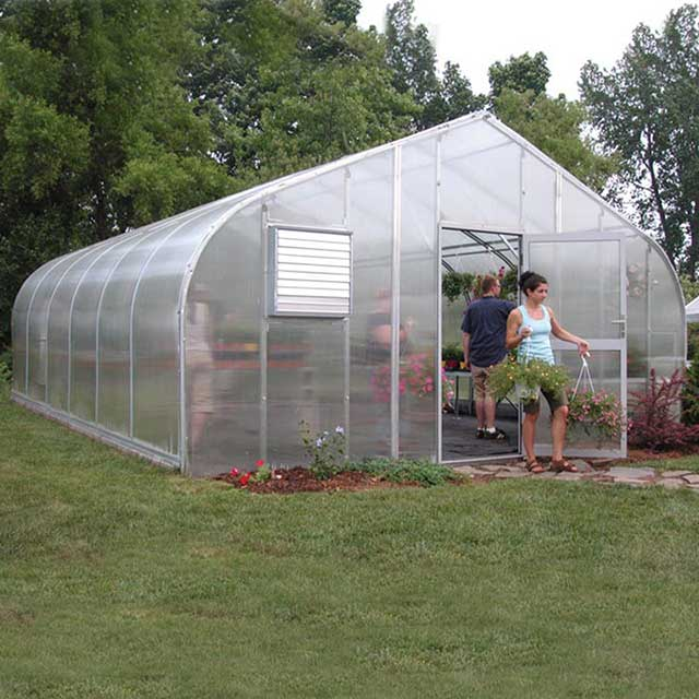 A photo from the manufacturer of the sort of greenhouse we are hoping to install.