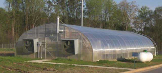 Quonset greenhouse gothic arch greenhouses for Gothic arch greenhouse plans