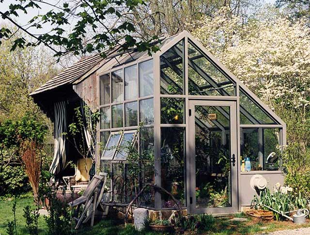 Traditional glass lean to greenhouse sale gothic arch for Greenhouse styles
