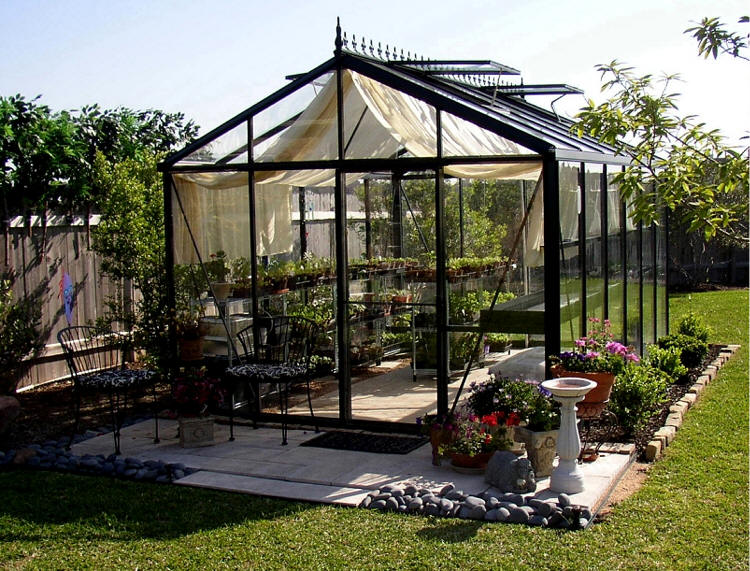 Victorian glass greenhouses sale gothic arch greenhouses for Victorian style greenhouse